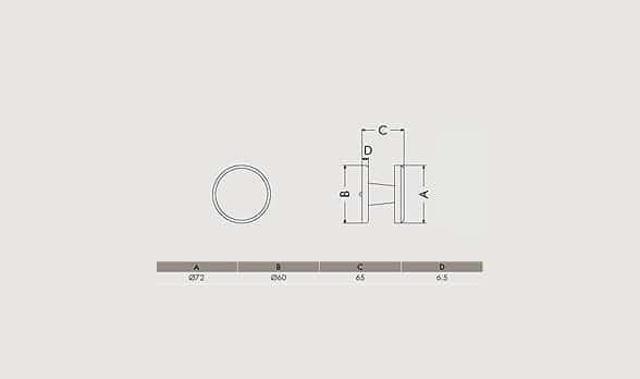 Maniglie Raphael Blanc 90 47