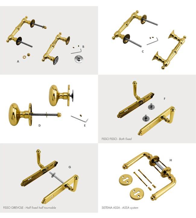 Dettagli e sistemi di montaggio